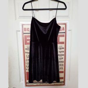Urban Outfitters Dresses - Urban Outfitters Velvet Straight-Neck Mini Dress
